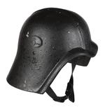 Thumbnail image of Right side view of helmet for Fedayeen Saddam, Iraq, about 1995 (IV.2059)