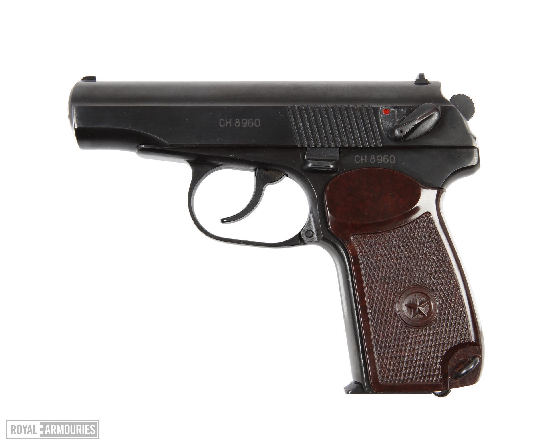 Centrefire self-loading pistol, Makarov PM, Russia, made 1976
