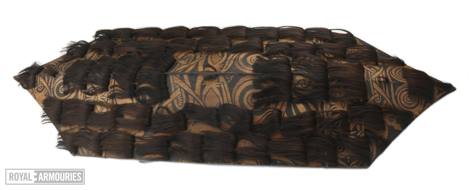 Shield with hair tufts. Borneo, early 19th Century