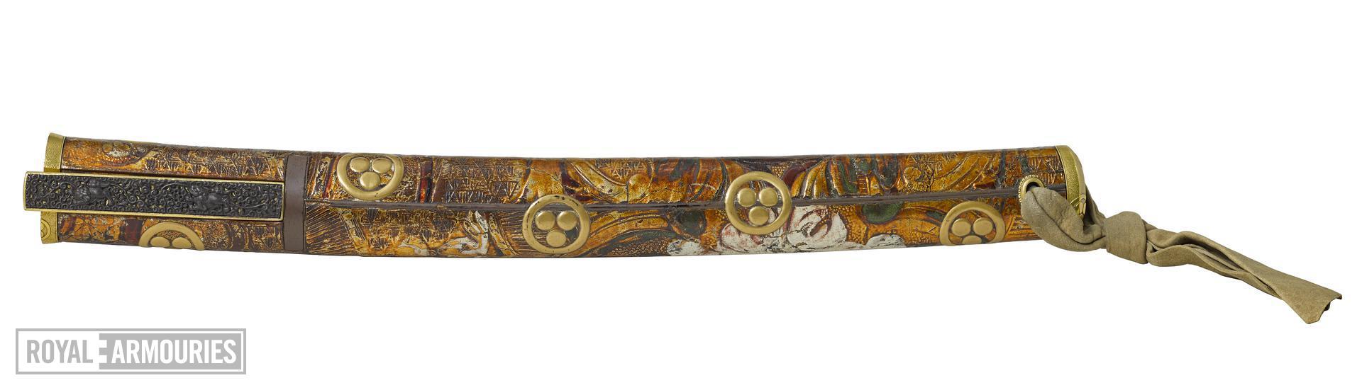 Dagger (aikuchi) with German blade dated 1625