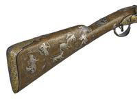 Thumbnail image of Flintlock sporting gun made for Empress Elizabeth of Russia at Tula