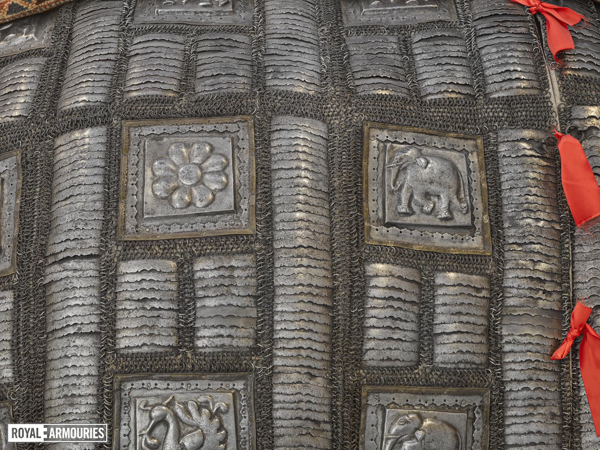 Elephant armour (bargustavan-i-pil), India, about 1600