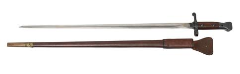 Thumbnail image of PR.1960 - Bayonet and scabbard For experimental Lee-Enfield Lockyer Pattern