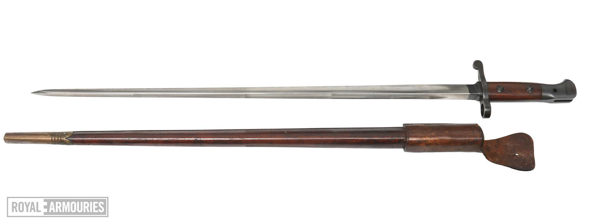 PR.1961 Bayonet and scabbard For experimental SMLE Lockyer Pattern