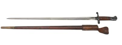 Thumbnail image of PR.1961 Bayonet and scabbard For experimental SMLE Lockyer Pattern