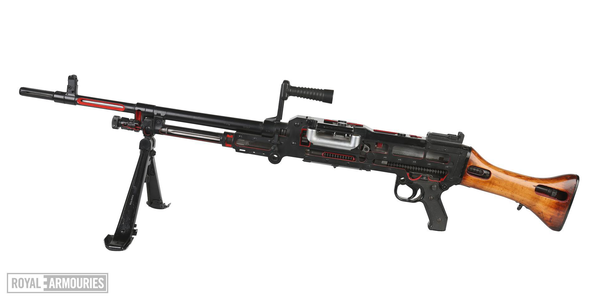 PR.7201 Centrefire automatic machine gun, GPMG FN L7A1 Skeleton