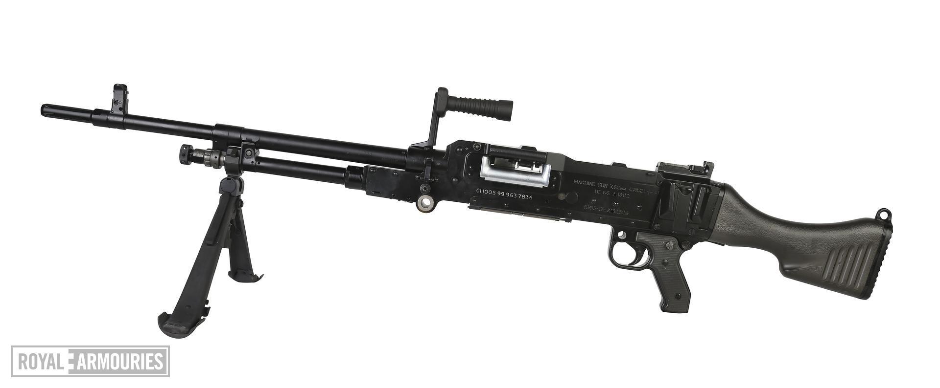 Centrefire automatic machine gun, GPMG FN L44A1. Air service model.