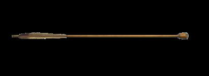 Thumbnail image of Whistling arrow with polished wooden whistle, late 18th century.