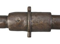 Thumbnail image of 1.1 inch gun made of iron with a wooden stock