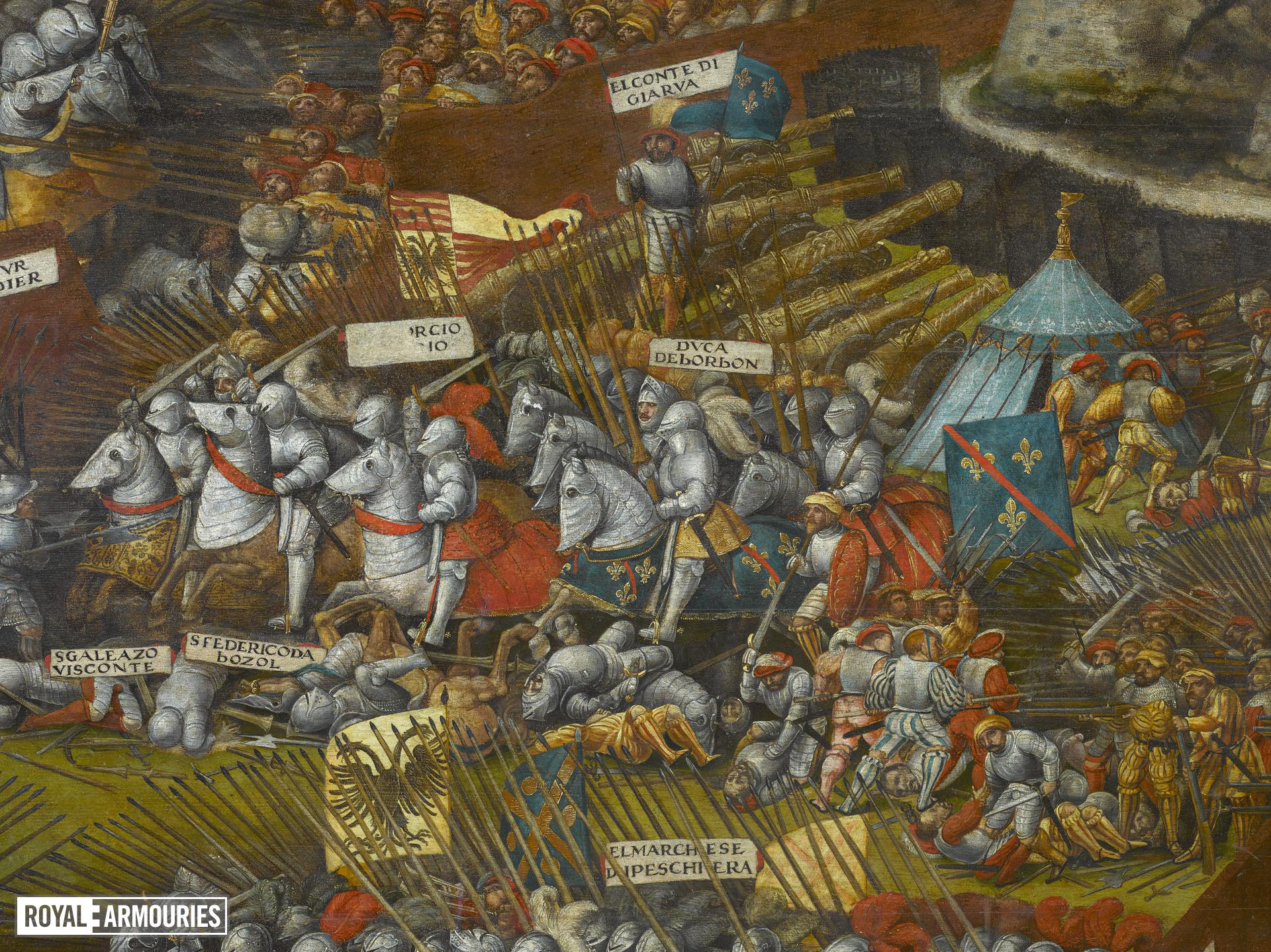The Battle of Pavia, by an unknown artist. Oil on panel.
