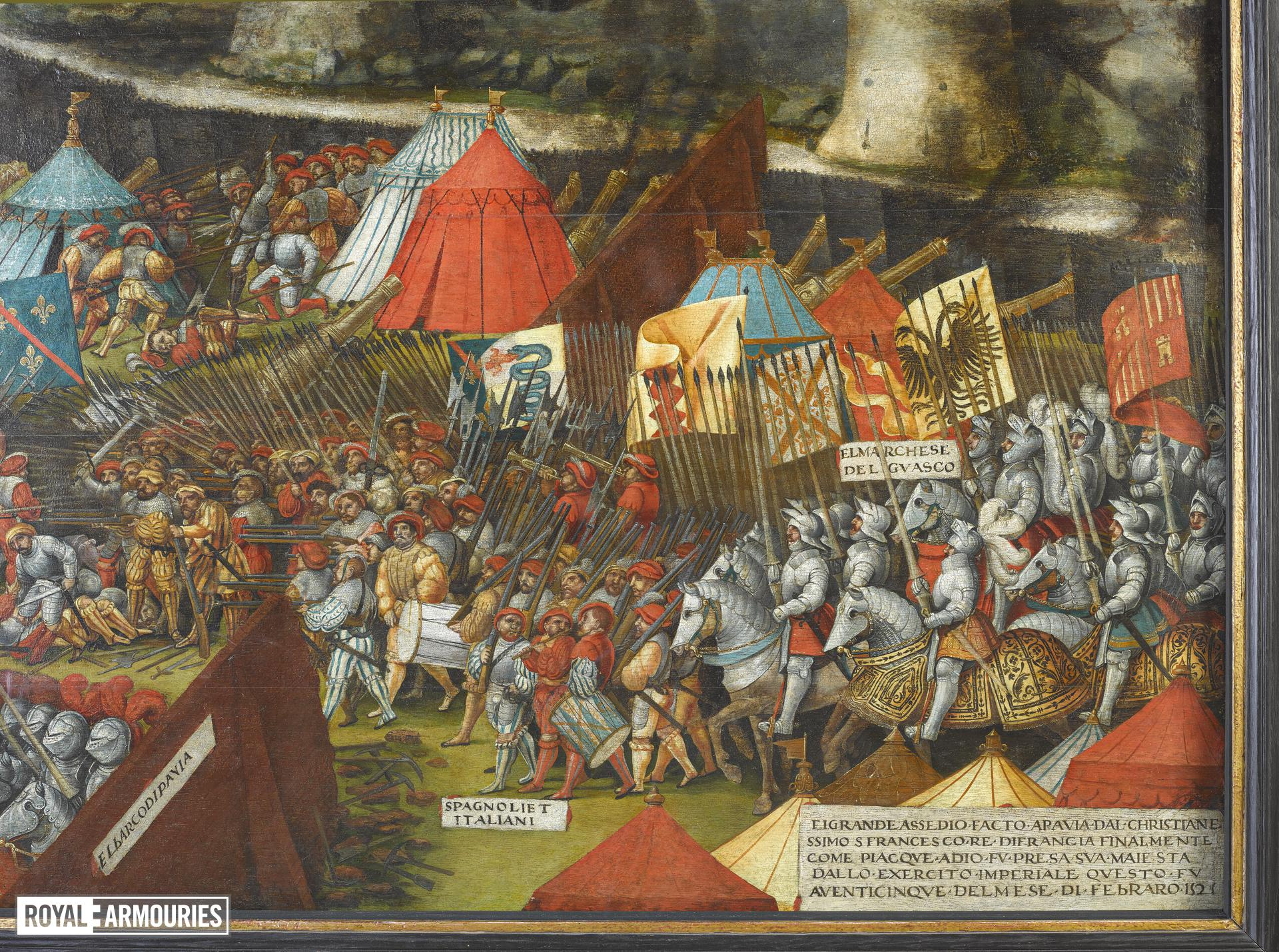 Painting - The Battle of Pavia