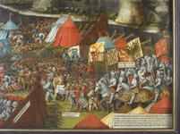 Thumbnail image of The Battle of Pavia, by an unknown artist. Oil on panel.