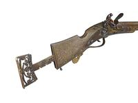 Thumbnail image of Flintlock sporting gun by James Low probably made for Charles I as Prince of Wales