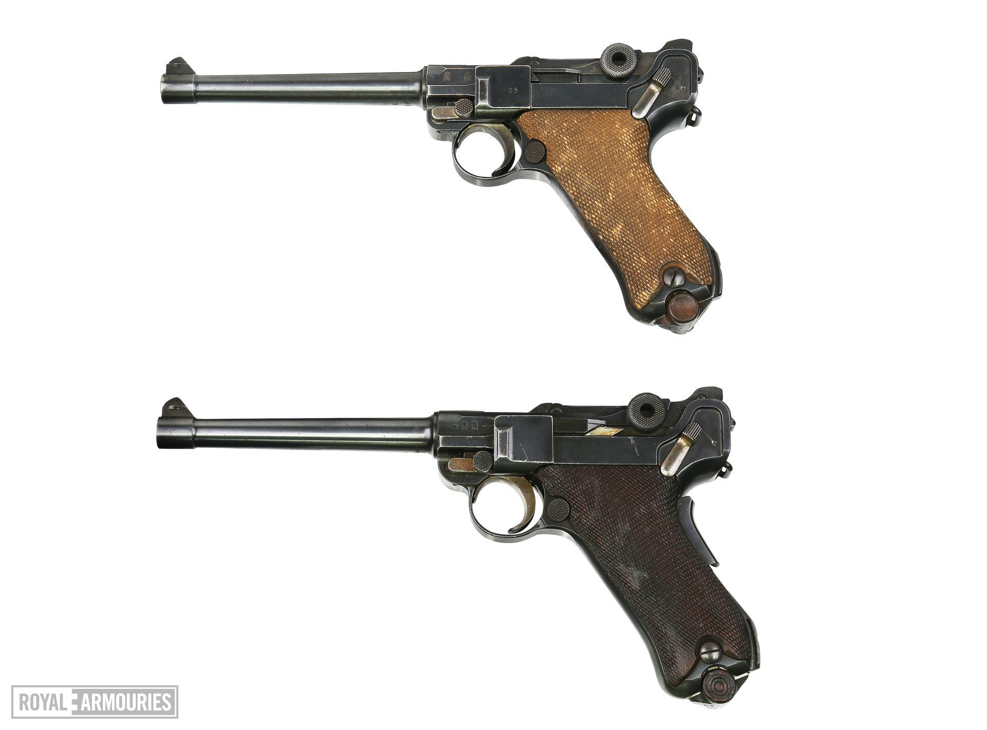Centrefire self-loading pistol - Luger P04, Naval