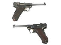 Thumbnail image of Luger Centrefire self-loading pistols. Luger Model 1911 (PR.12892) & Luger Model 1906 (PR.4132).