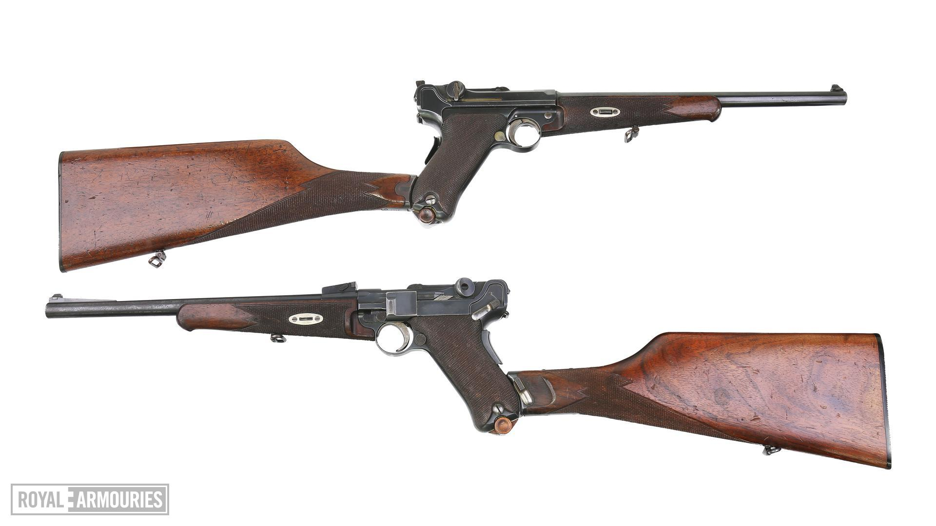 Centrefire self-loading Luger carbines. PR.7525 & XII.3585