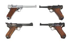 Thumbnail image of Various Luger self-loading pistols. PR.12885, PR.13520, PR.12888 & PR.12887