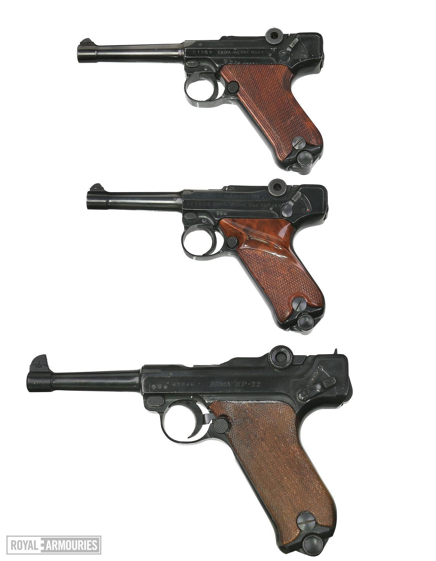 Centrefire self-loading pistol - Erma Luger Model KGP 68A