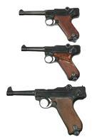 Thumbnail image of Self-loading Erma Lugers pistols. PR.4153, PR.12648 & PR, 10474