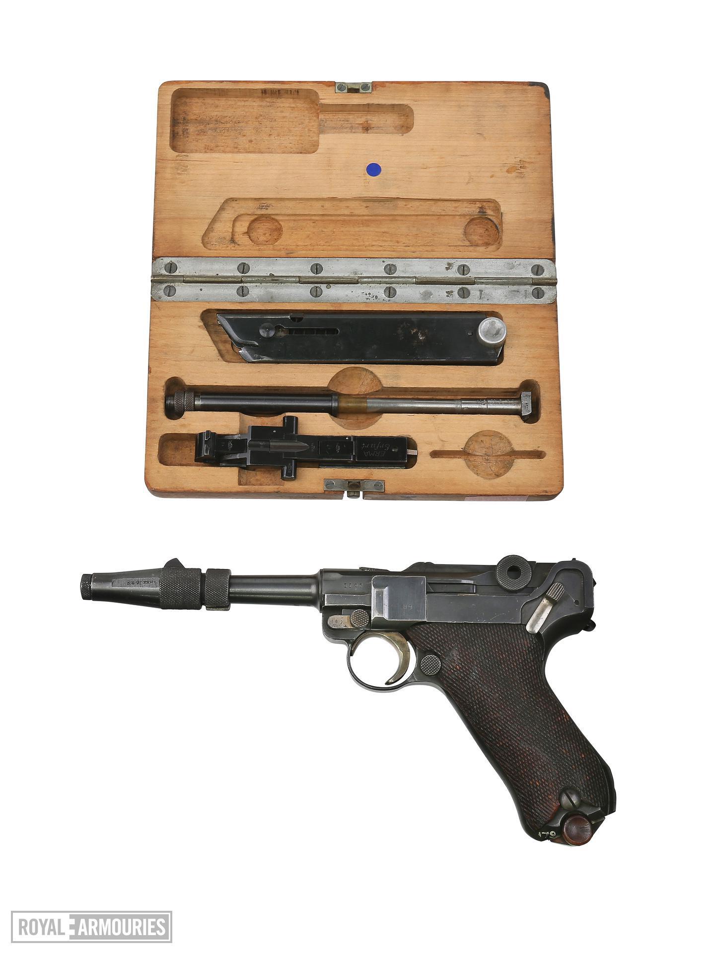 Centrefire self-loading pistol - Luger P08