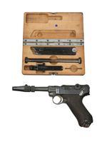 Thumbnail image of Centrefire self-loading pistol & Conversion kit. PR.12890 & PR.10773