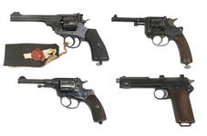Thumbnail image of Collection of Centrefire revolvers & pistols. XII.4122, XII.10717, PR.4721 & PR.3276.