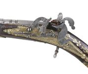 Thumbnail image of Snaphaunce pistol possibly belonging to Prince Charles, later King Charles I. Scottish, Dundee, dated 1619. Probably made by Allison  May. XII.737