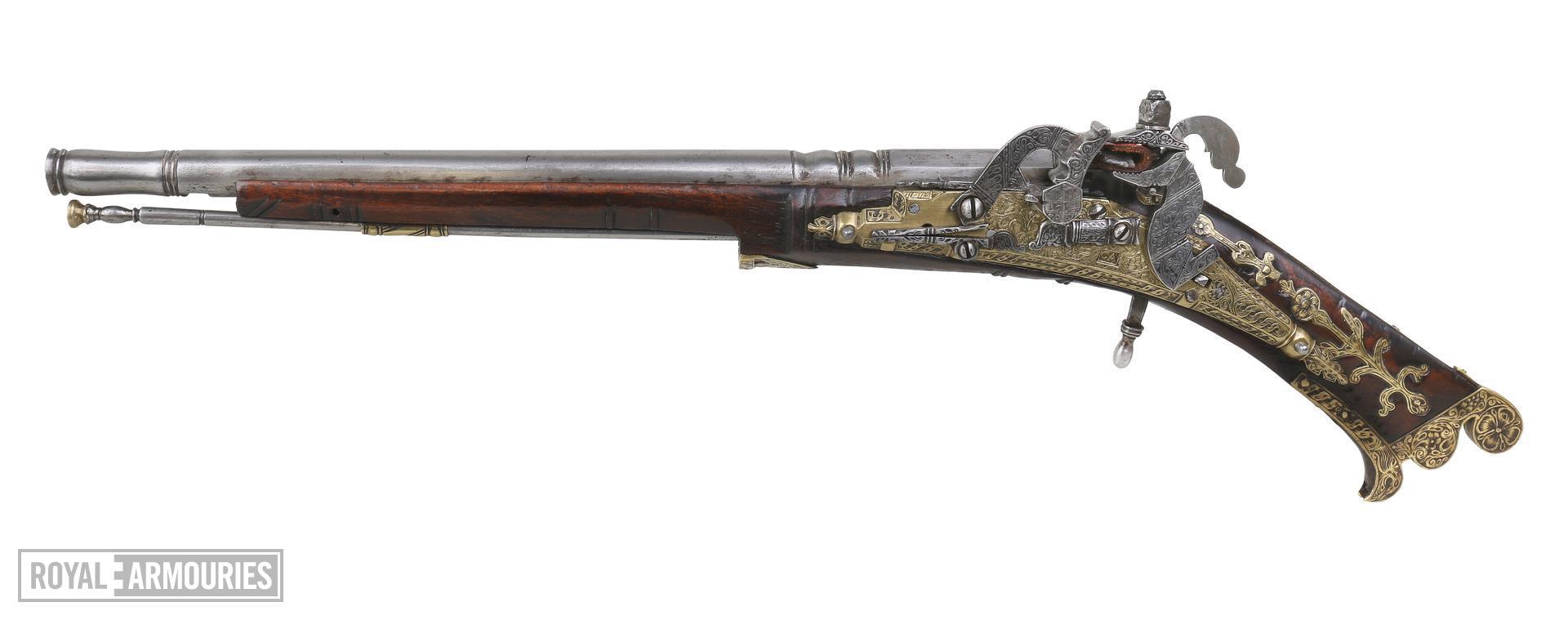 Snaphaunce muzzle-loading pistol - By Allison