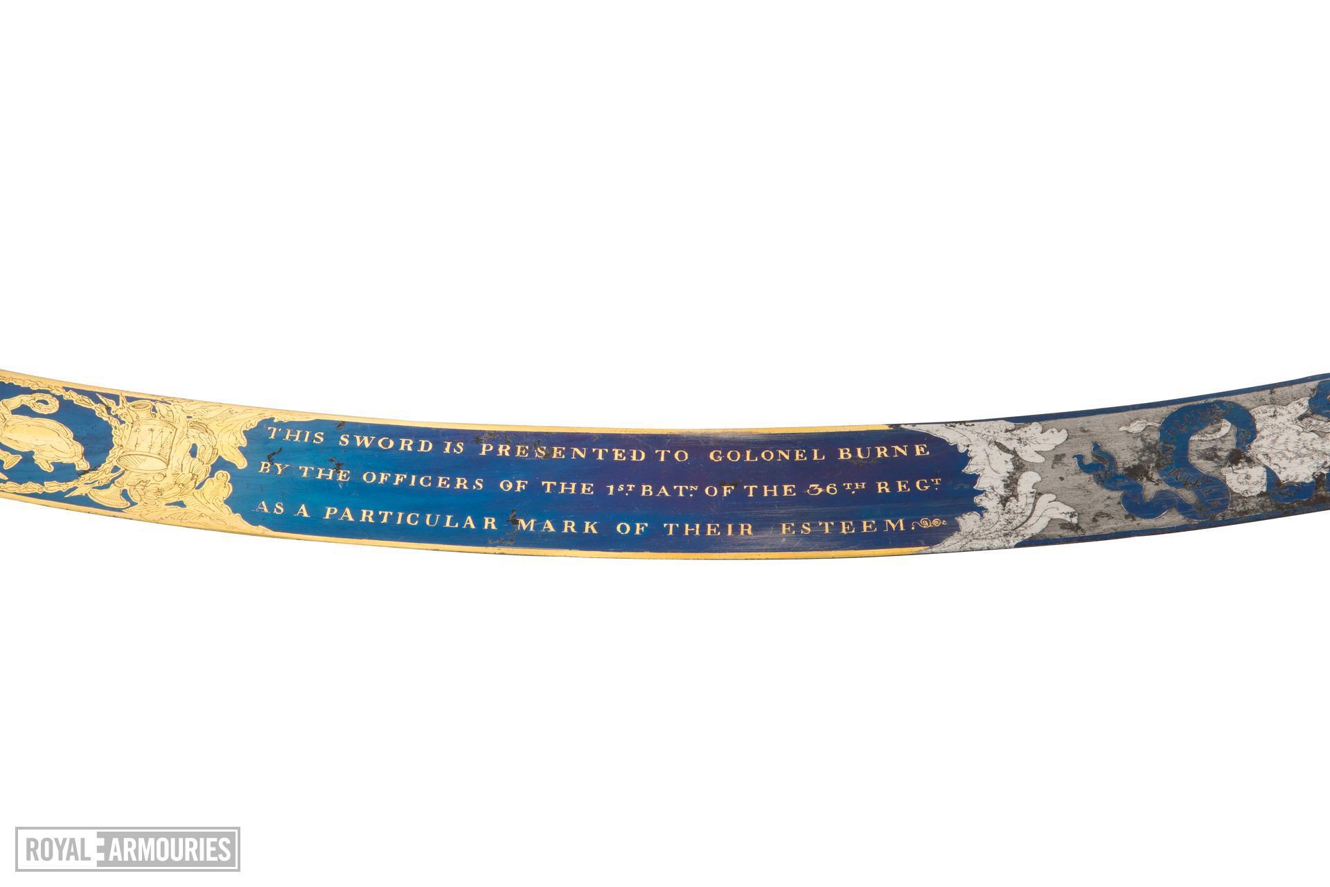 Sabre, scabbards, belt and case