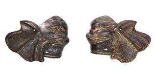 Thumbnail image of Pair of Poleyn. Charles V, by Kolman Helmschmid.