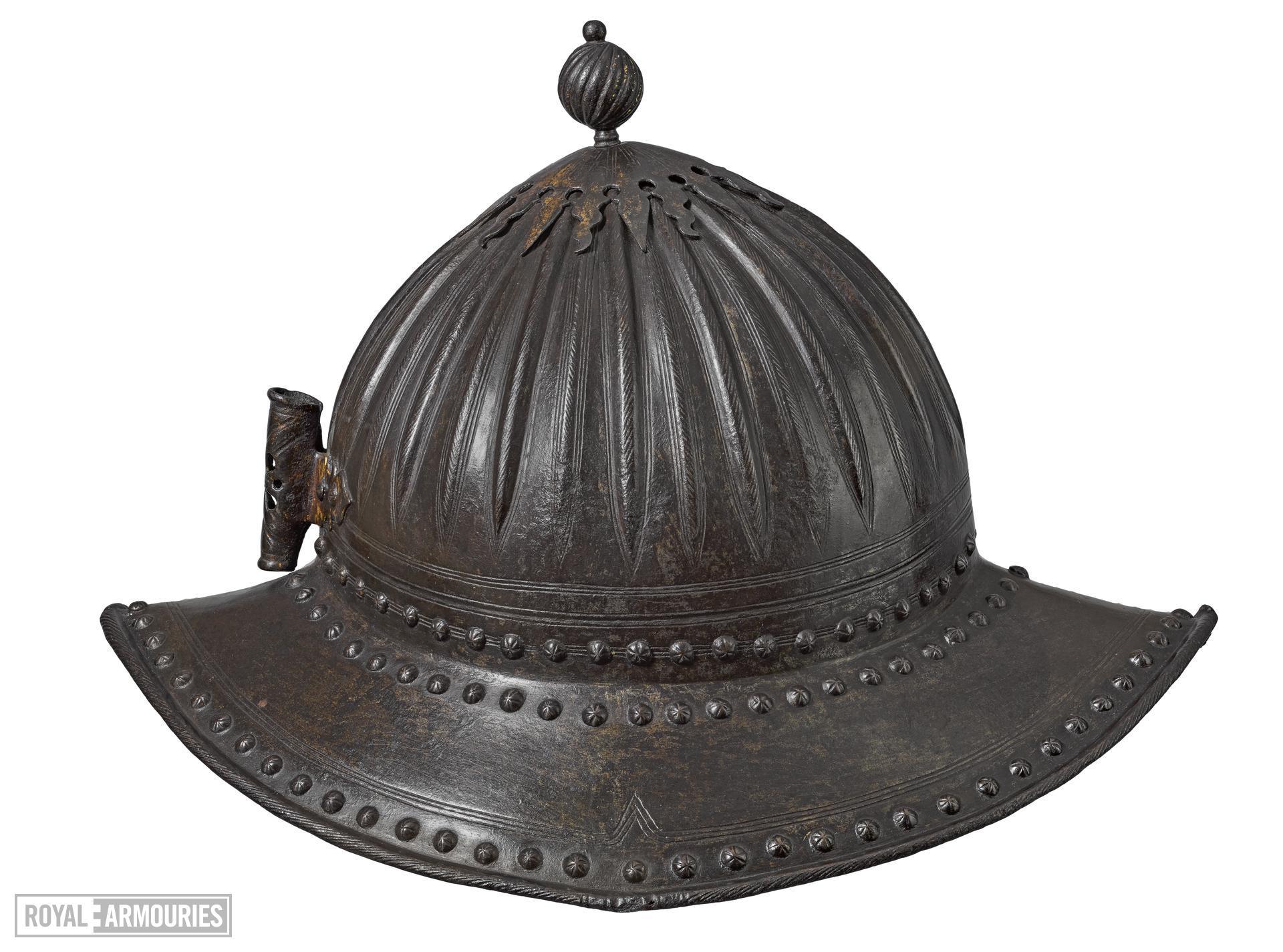 Pikeman's pot From a pikeman's armour about 1630 IV.1615