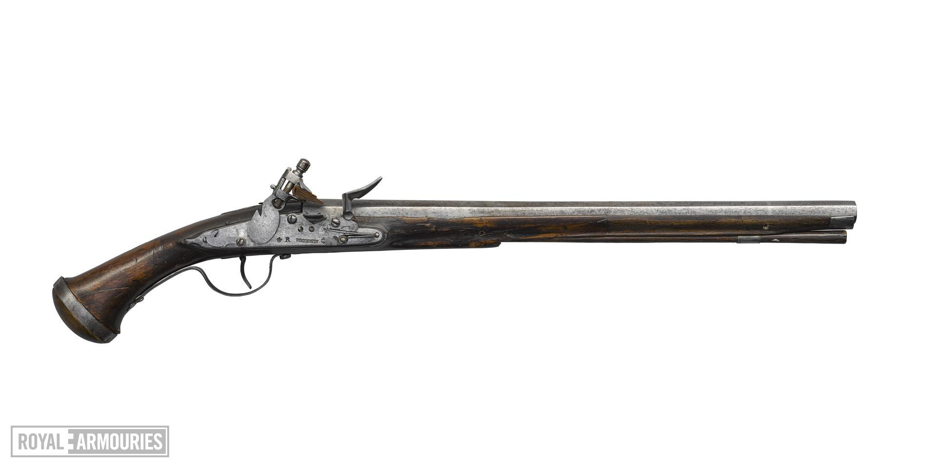 Flintlock Pistol. By Murden; part of the Littlecote collection. XII.5438