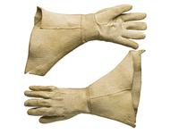 Thumbnail image of Leather gauntlets Associated with the Popham armour. Littlecote collection. III.1956 b/c