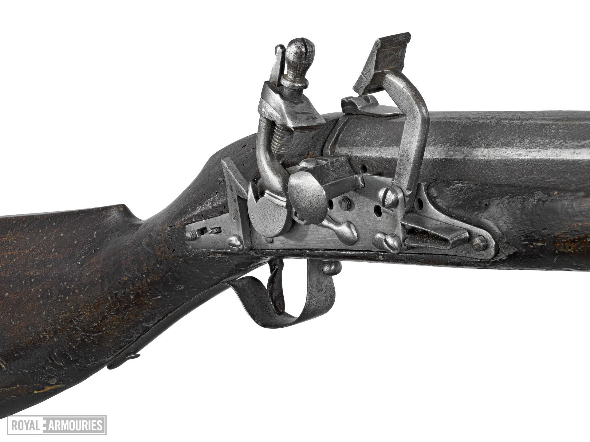 Flintlock muzzle-loading musket, Littlecote collection. XII.5392