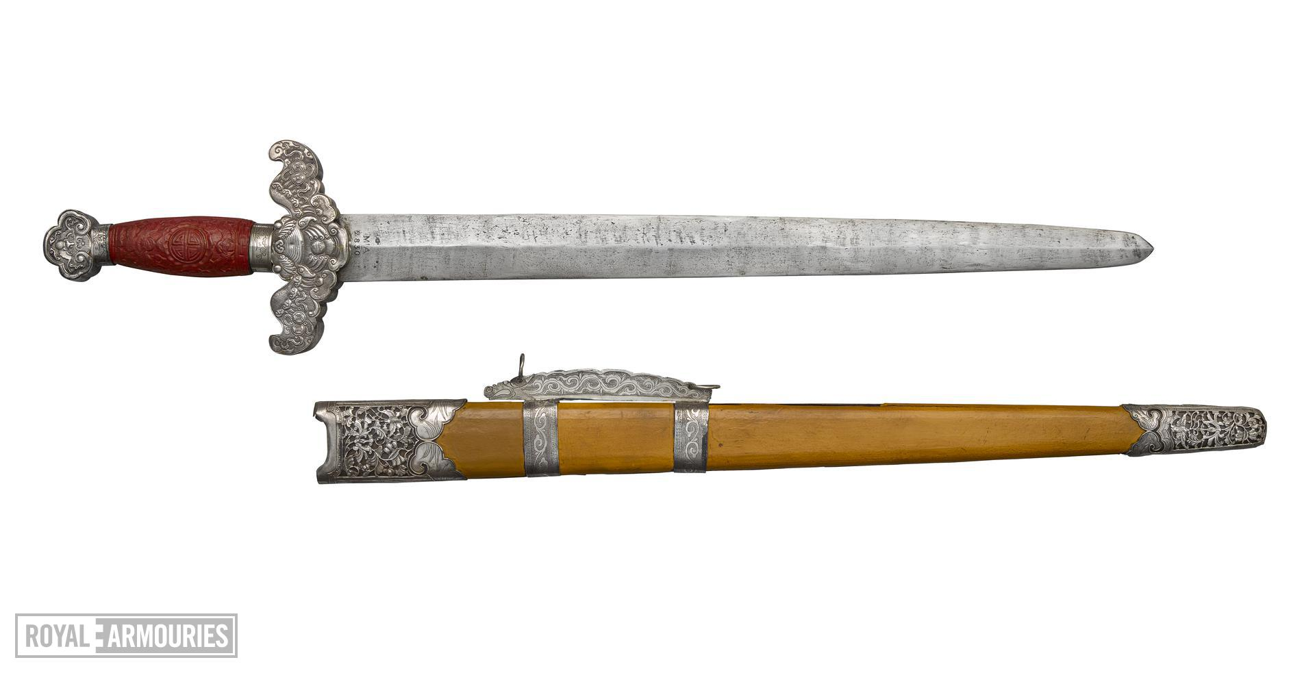 Sword (jian) and scabbard XXVIS.170