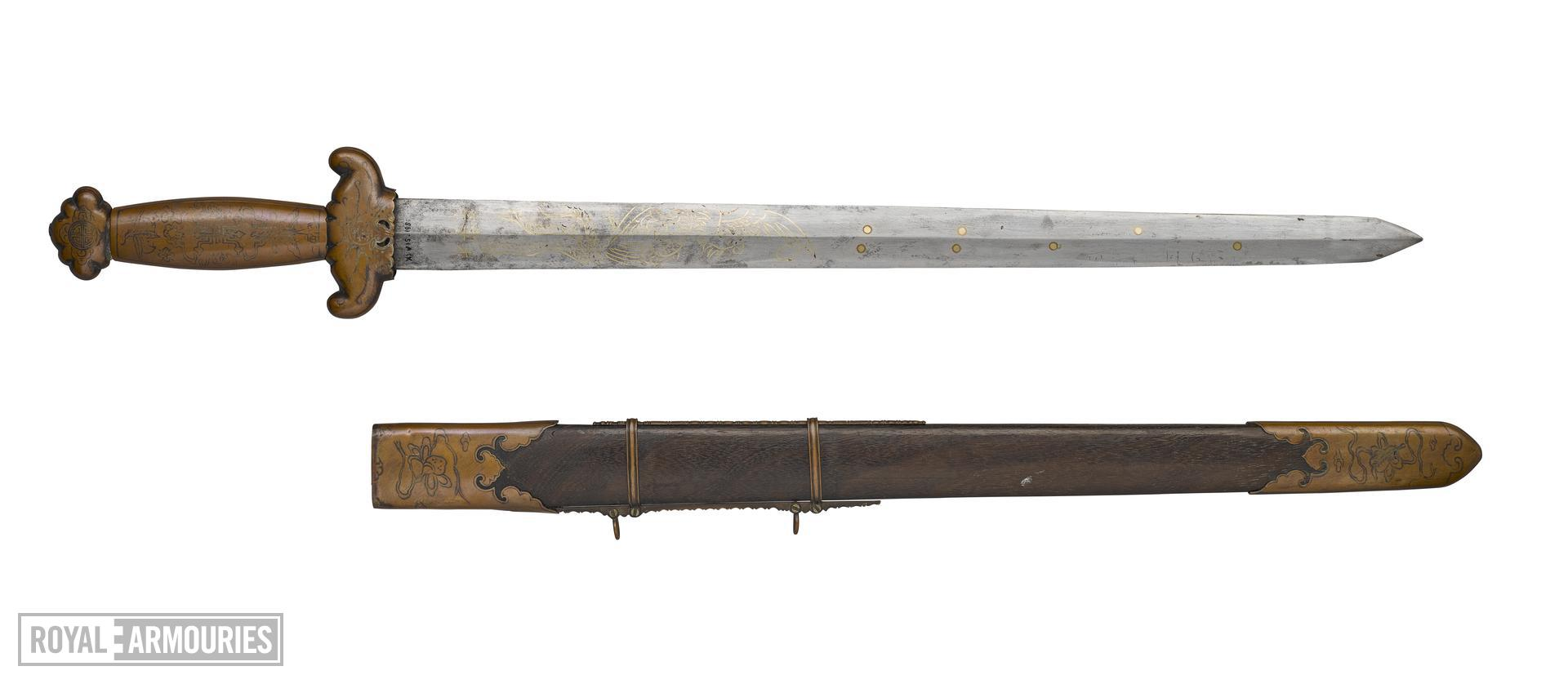 Sword (jian) and scabbard XXVIS.188