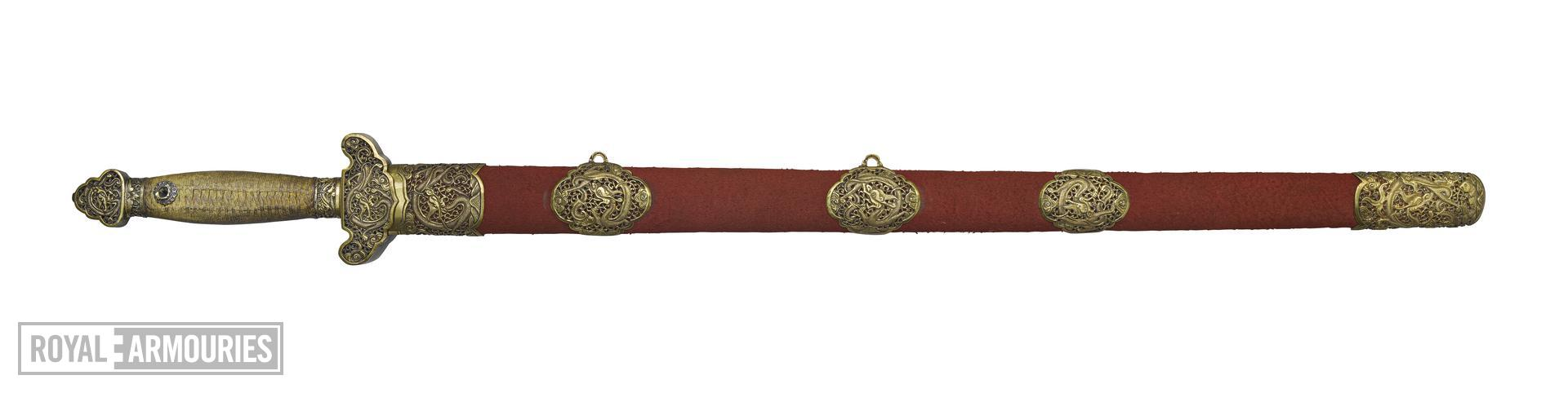 Sword (jian) and scabbard XXVIS.189