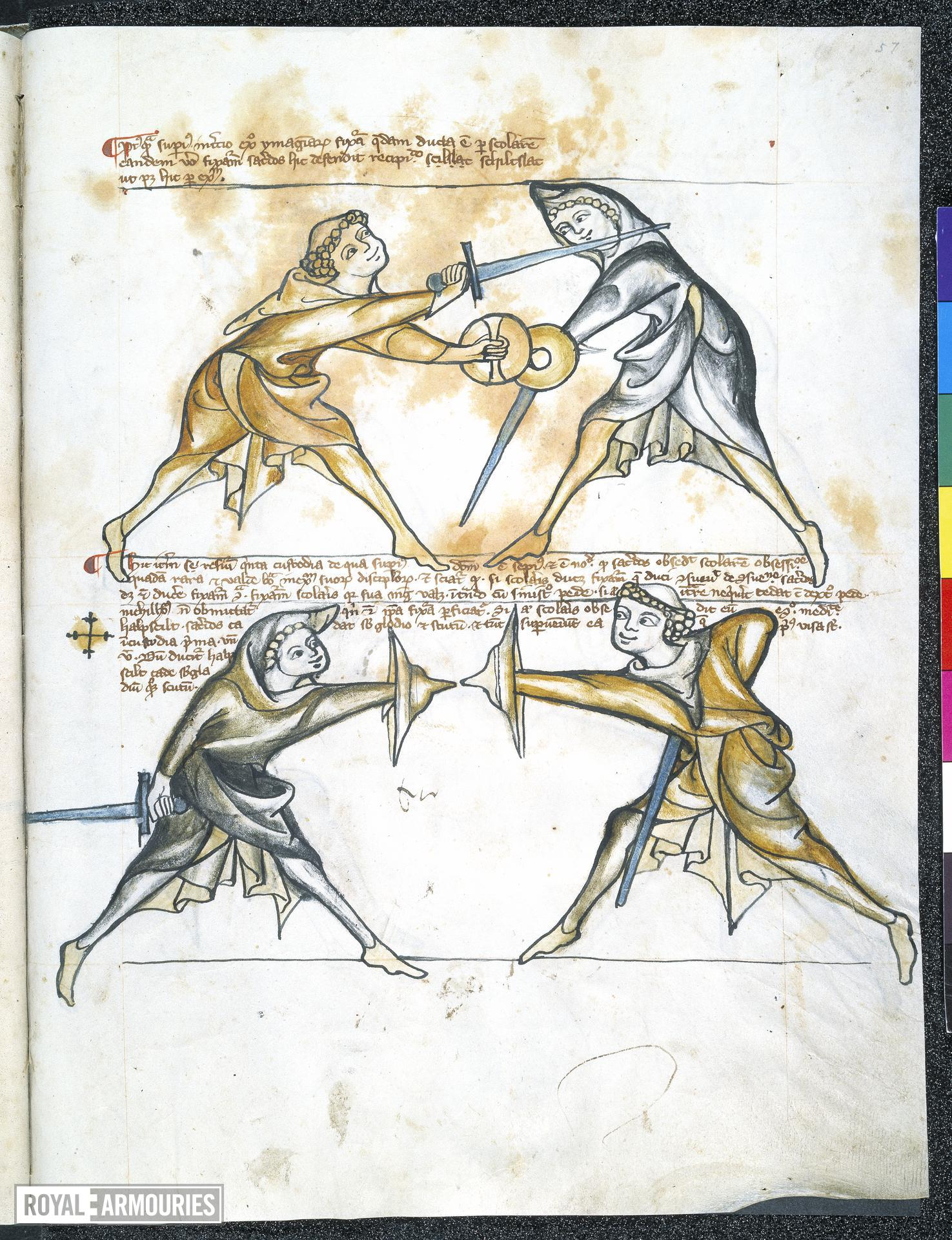 Fencing manual known as the 'Tower Fechtbuch'