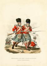 Thumbnail image of Grenadiers of the 42nd or Royal and 92nd or Gordon Highlanders, 1812. Aquatint by J C Stadler after Charles Hamilton Smith. London, published 1st September 1812 by Colnaghi & Co. 23 Cockspur Street.