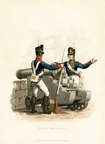 Thumbnail image of Royal Artillery, 1812. Aquatint by J C Stadler after Charles Hamilton Smith. London, published 1st February 1815 by Colnaghi & Co. 23 Cockspur Street.