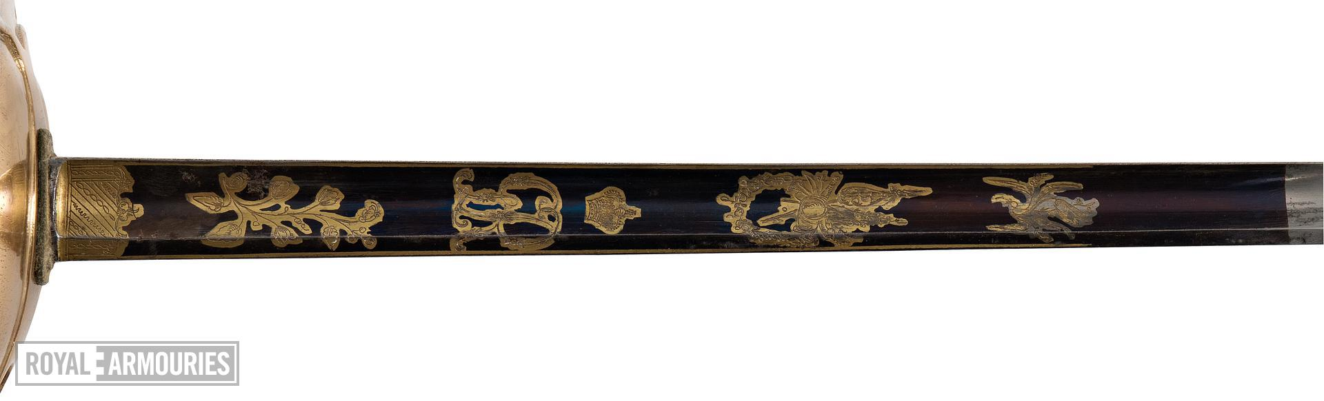 Sword and scabbard Sword of Duke of Wellington (A) and scabbard (B)