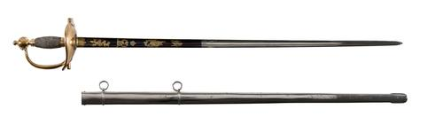 Thumbnail image of Sword and scabbard Sword of Duke of Wellington (A) and scabbard (B)