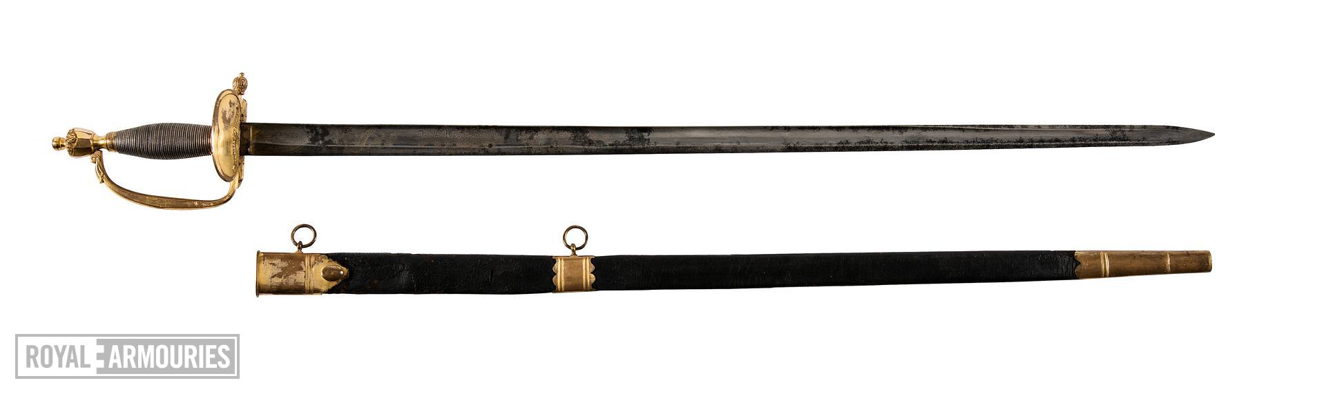 Infantry Officer's  sword and scabbard. Pattern 1796 Britain, 1796-1821 (IX.981)