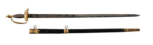 Thumbnail image of Infantry Officer's  sword and scabbard. Pattern 1796 Britain, 1796-1821 (IX.981)