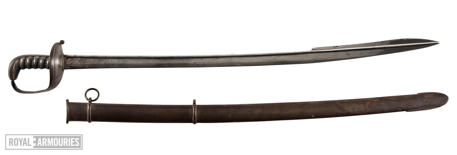 Officer's sword and scabbard, about 1815-1825, Britain (IX.2240)