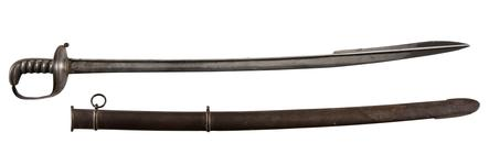 Thumbnail image of Officer's sword and scabbard, about 1815-1825, Britain (IX.2240)