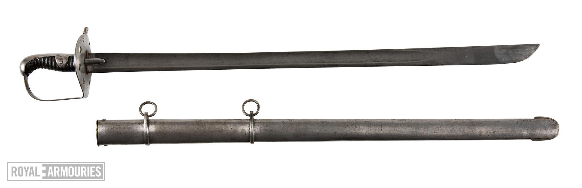 Heavy Cavalry Trooper's sword and scabbard, Pattern 1796, Britain, 1796-1821