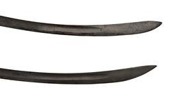 Thumbnail image of Light Cavalry sword, Pattern 1796, Britain, 1796-1821 (top) (IX.8104) and light cavalry trooper's sword. Pattern 1796, Britain, 1796-1821 (bottom) (IX.2586)