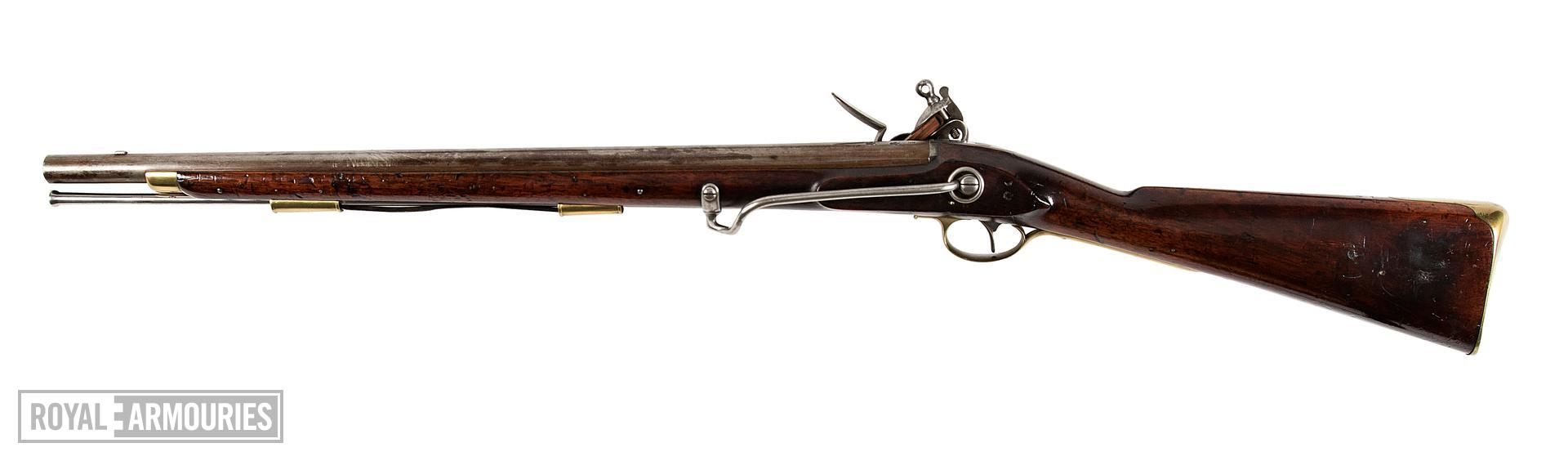 Flintlock military carbine - Pattern 1796 Heavy Dragoon, sealed pattern For 1st Dragoon Guards By Henry Nock with his screwless lock