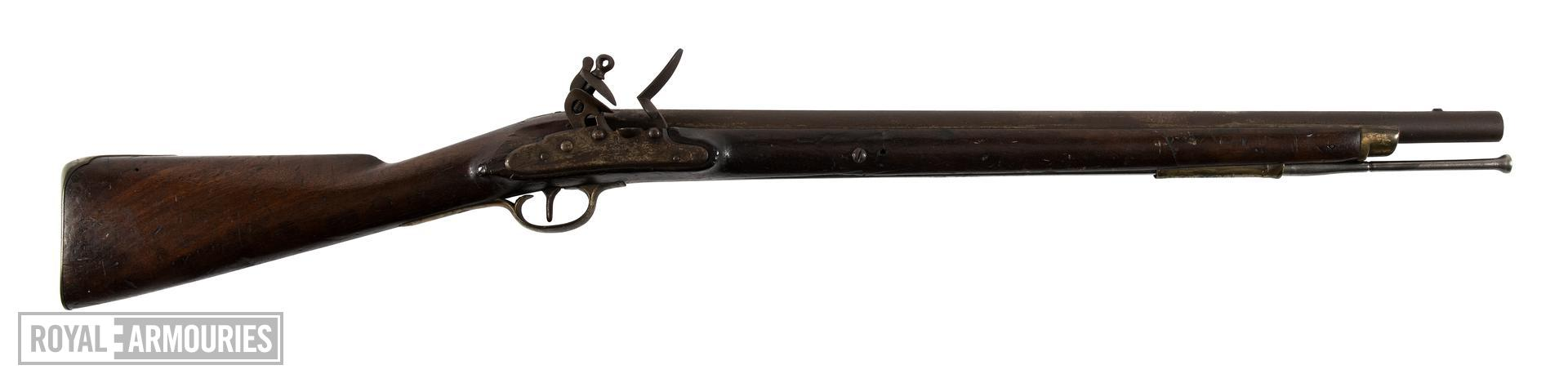 Flintlock military carbine - Pattern 1796 Heavy Dragoon Carbine With Nock's lock.